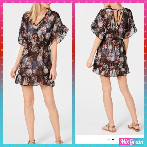 7d43db6a5eba2 Miken Swim | Ruffled Coverup Dress By In Large | Poshmark